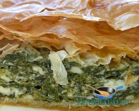 Görög spenótos pite recept