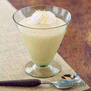 Citromkrémleves vaníliafagylalttal recept