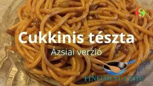 Cukkinis tészta (ázsiai verzió) recept